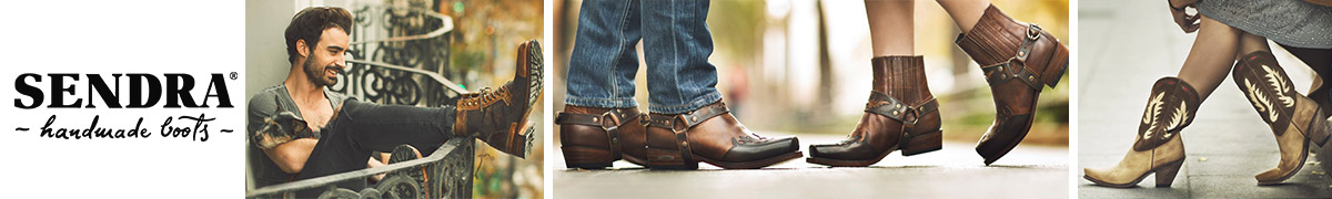 Western Bottes En sen21904 Ref Boots Cuir Marron Vachette Sendra fgqHUxwO