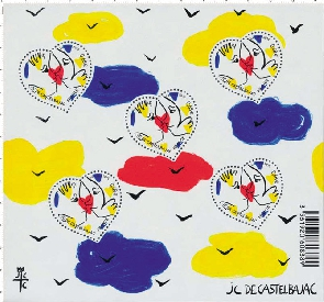JCDC timbre nos lettres d'amour
