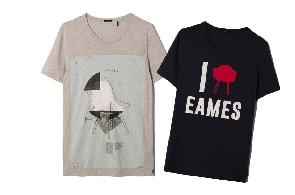 Charles Eames X IKKS, des tee-shirts masculins très design